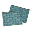 solid jade personalized kids custom name zipper accessory bag