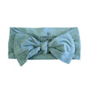 jade stretchy newborn bow headband