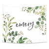 leafy greenery nursery wall tapestries