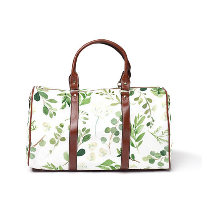 Leafy Greenery Overnight Travel Bags