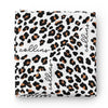 Leopard Personalized Baby Name Swaddle Blanket