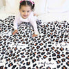 personalized toddler blanket in leopard