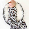 personalized leopard newborn swaddle