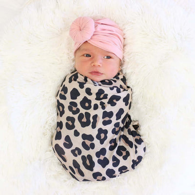 leopard baby swaddle