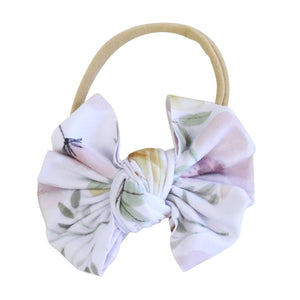 Maeve Floral Knit Bow Headband