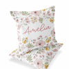 mauve floral personalized throw pillow