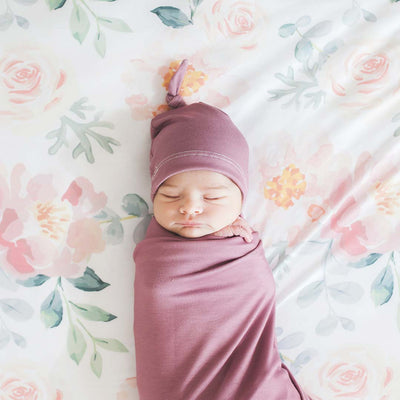 Solid Dusty Rose Knit Swaddle Blanket