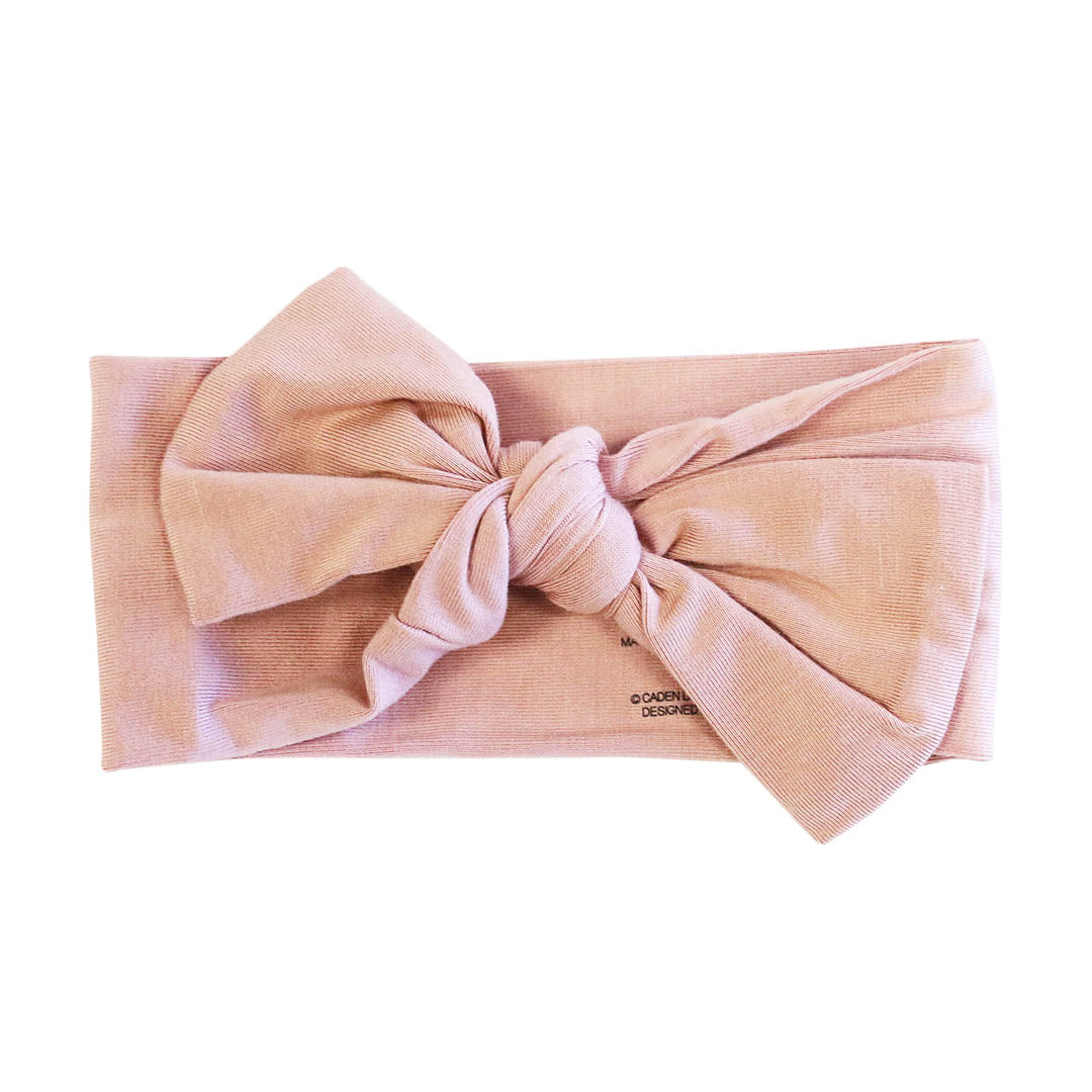 Blush Pink Small Floral Head Wrap Headband Pink Floral Headwrap Newborn  Baby  Toddler  Girls head wrap knitted bow tie on head wrap