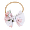 Millie's Dusty Rose Floral Knit Bow Headband