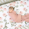 Millie's Dusty Rose Garden Crib Sheet