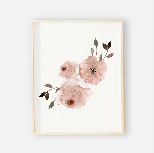 millie's dusty rose garden digital wall art