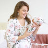 millie blush floral mommy robe