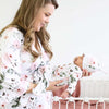 Millie's Dusty Rose Garden Knit Maternity Robe