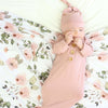 mauve roses swaddle blanket soft for newborns