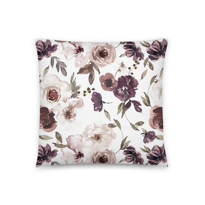 Demi's Dusty Purple Floral Custom Personalized Pillow