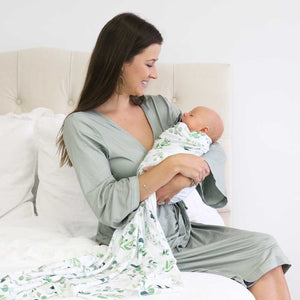 Color Story - Moss Knit Maternity Robe