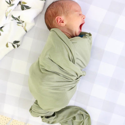 solid moss swaddle made of bamboo