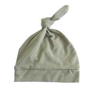 moss newborn knotted hat