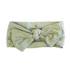 moss bow headwrap for newborn baby
