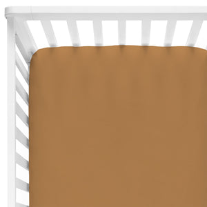 Solid Mustard Bamboo Knit Crib Sheet
