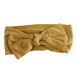 mustard newborn headwrap bow