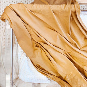 solid mustard soft swaddle