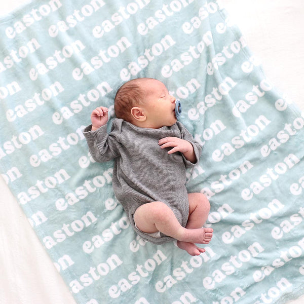 Seafoam Personalized Color Blanket