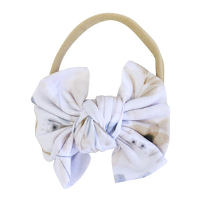 Navie Floral Knit Bow Headband