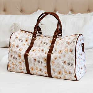 Navie's Neutral Floral Overnight Bag