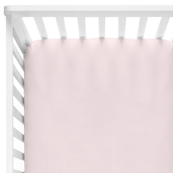 Solid Blush Knit Crib Sheet