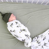 Olive Leaf Oversized Swaddle Blanket