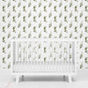 Olive Leaf Farmhouse Removable Wallpaper