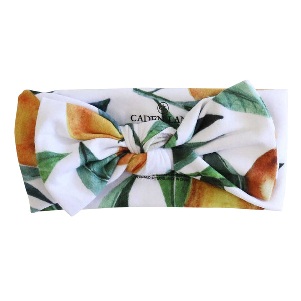 orange blossom bow headwrap