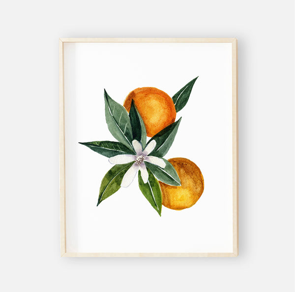 Orange Blossoms Digital Nursery Wall Art Print 1