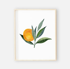 Orange Blossoms Digital Nursery Wall Art Print 2