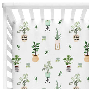 parker's potted plant stretchy knit crib sheet