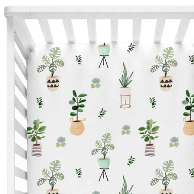parker's potted plant knit crib sheet