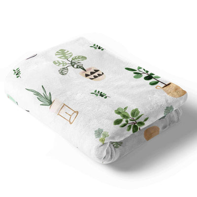 parker's potted plant soft baby blanket