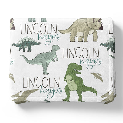 dinosaur friends personalized customer soft toddler kid blanket