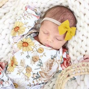 Peyton's Vintage Floral Newborn Baby Knot Gown