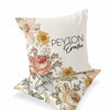 vintage floral custom nursery pillow