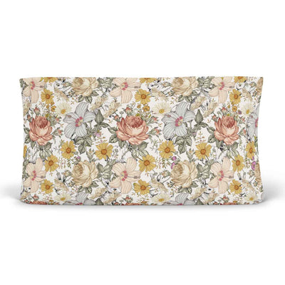 peyton's vintage floral knit changing pad cover