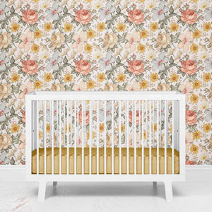peyton's vintage floral removable wallpaper