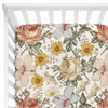 peyton's vintage floral stretchy knit crib sheet