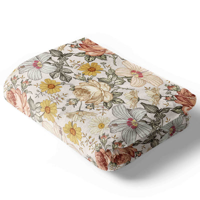 peyton's vintage floral soft minky baby blanket