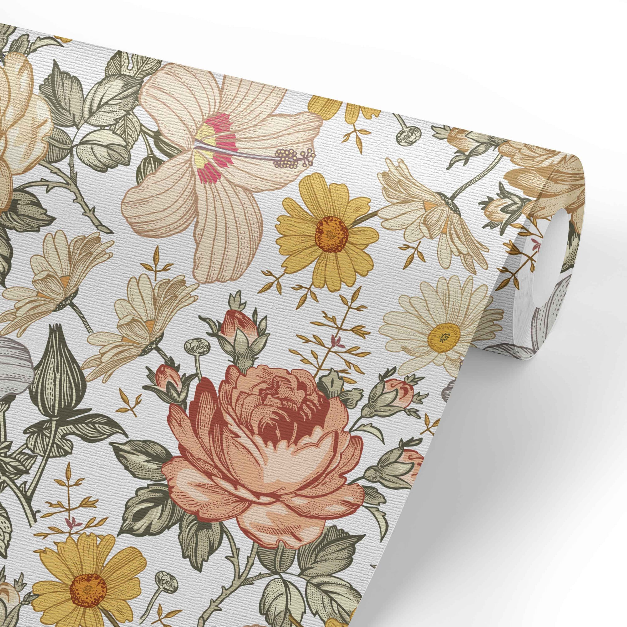 Peyton S Vintage Floral Removable Wallpaper Caden Lane