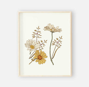 peyton's vintage floral digital wall art