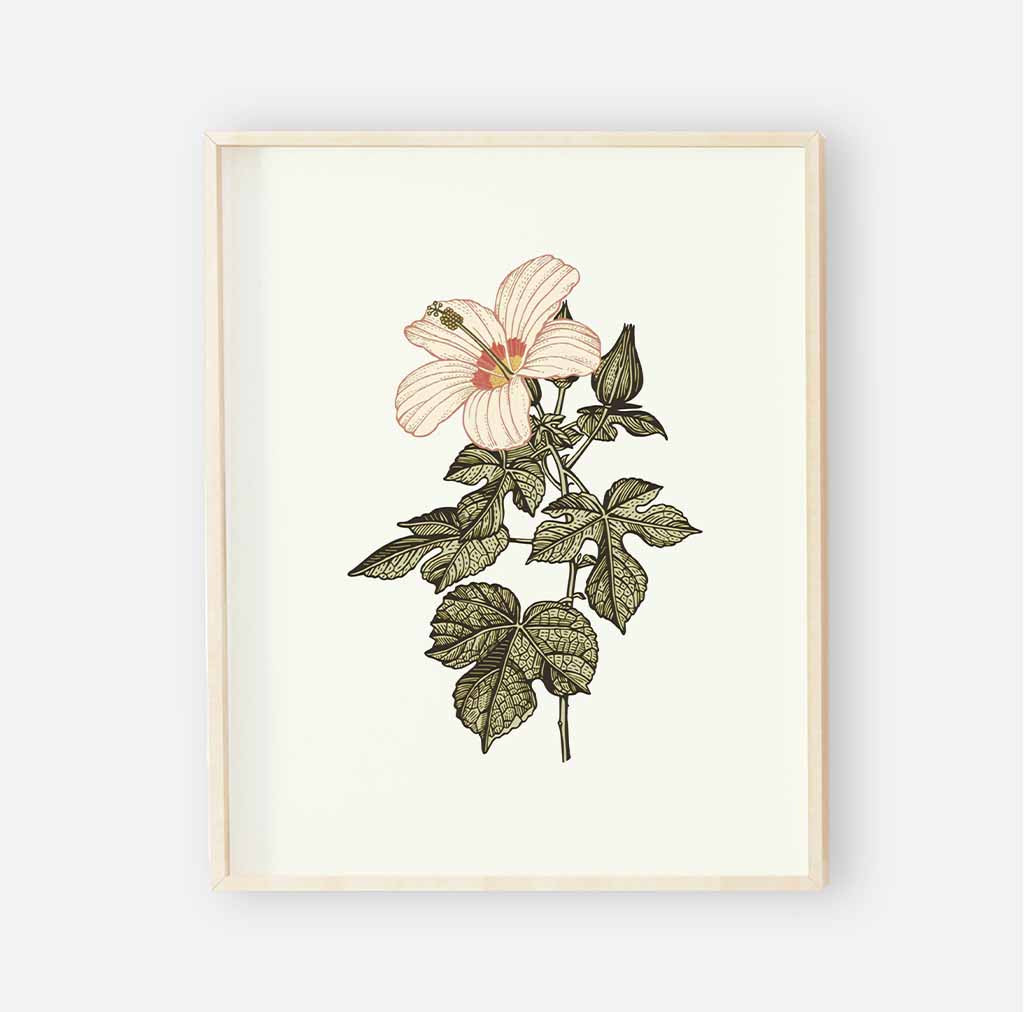 Peytons vintage floral digital nursery wall art print 3