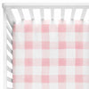 Maggie's Pink & White Buffalo Check Bumperless Crib Bedding