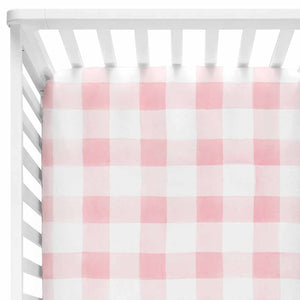 Presley's Pink Plaid Farmhouse Style Baby Bedding